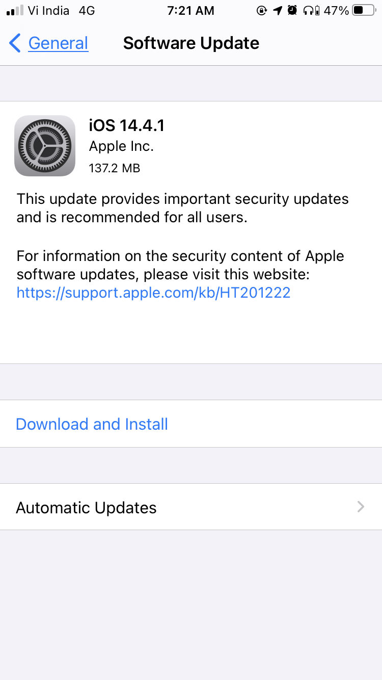 ios 14.4.1 for iphone