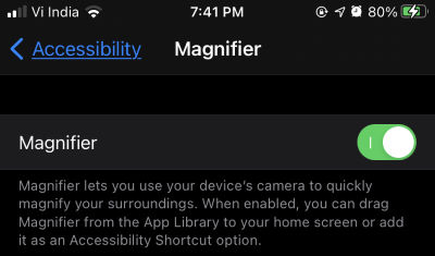 magnify using iphone camera