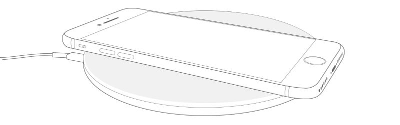 iphone on a wireless charging pad