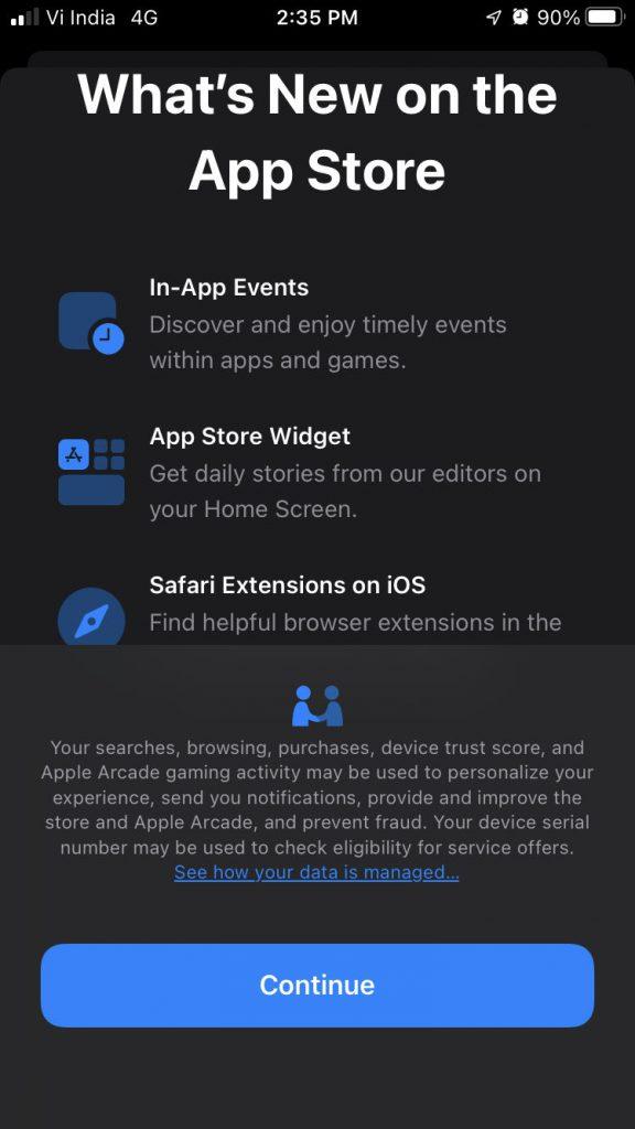 new app store splash screen in ios 15 beta 3