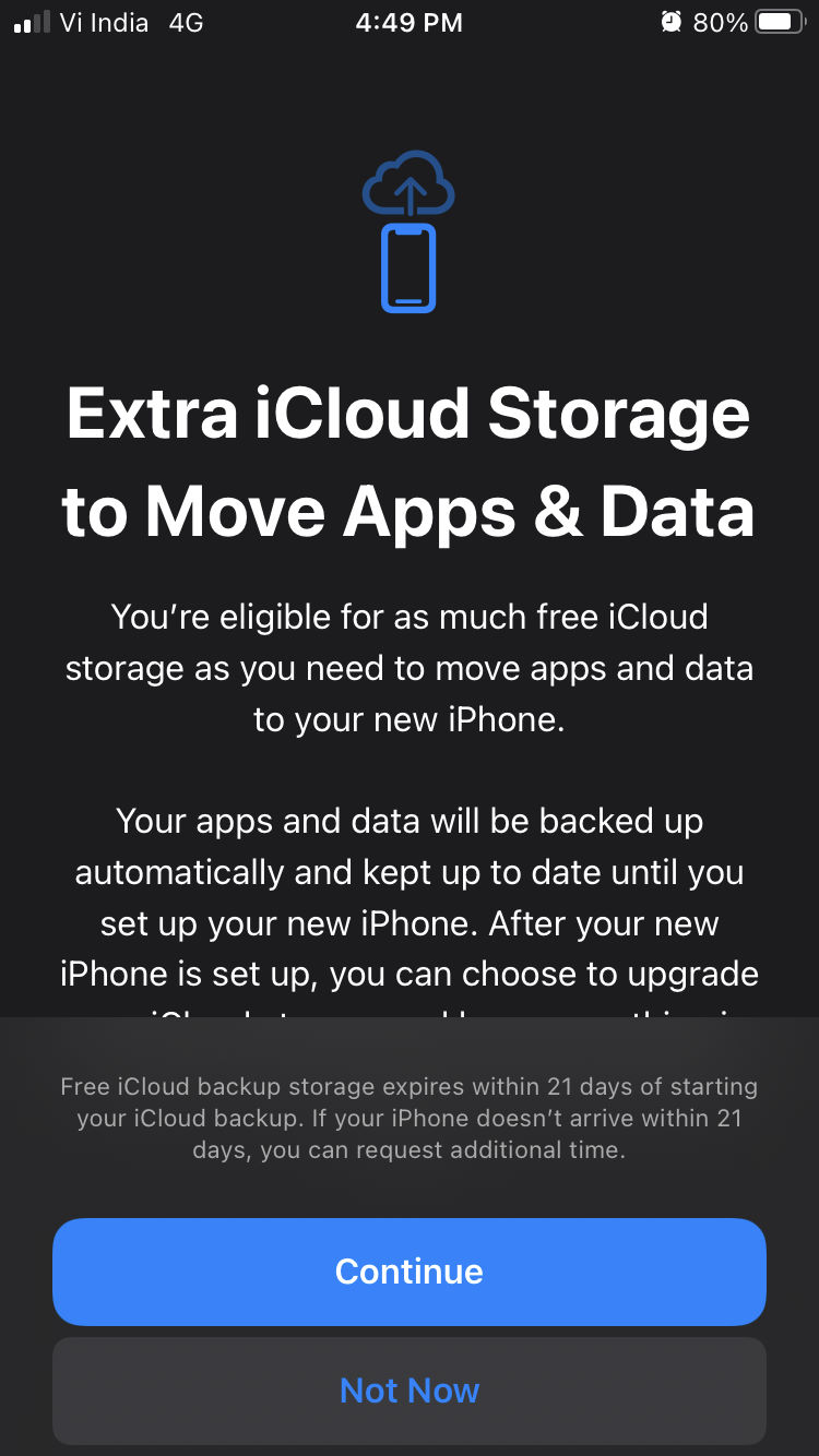 apple now offers unlimited icloud storage for new iphone data transfer