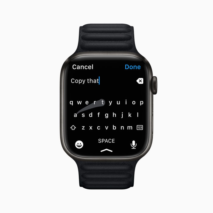 apple watch series 7 gets a spacious screen and an upscaled UI