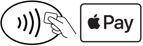 look for the two apple pay symbols at the place of payment to use apple pay