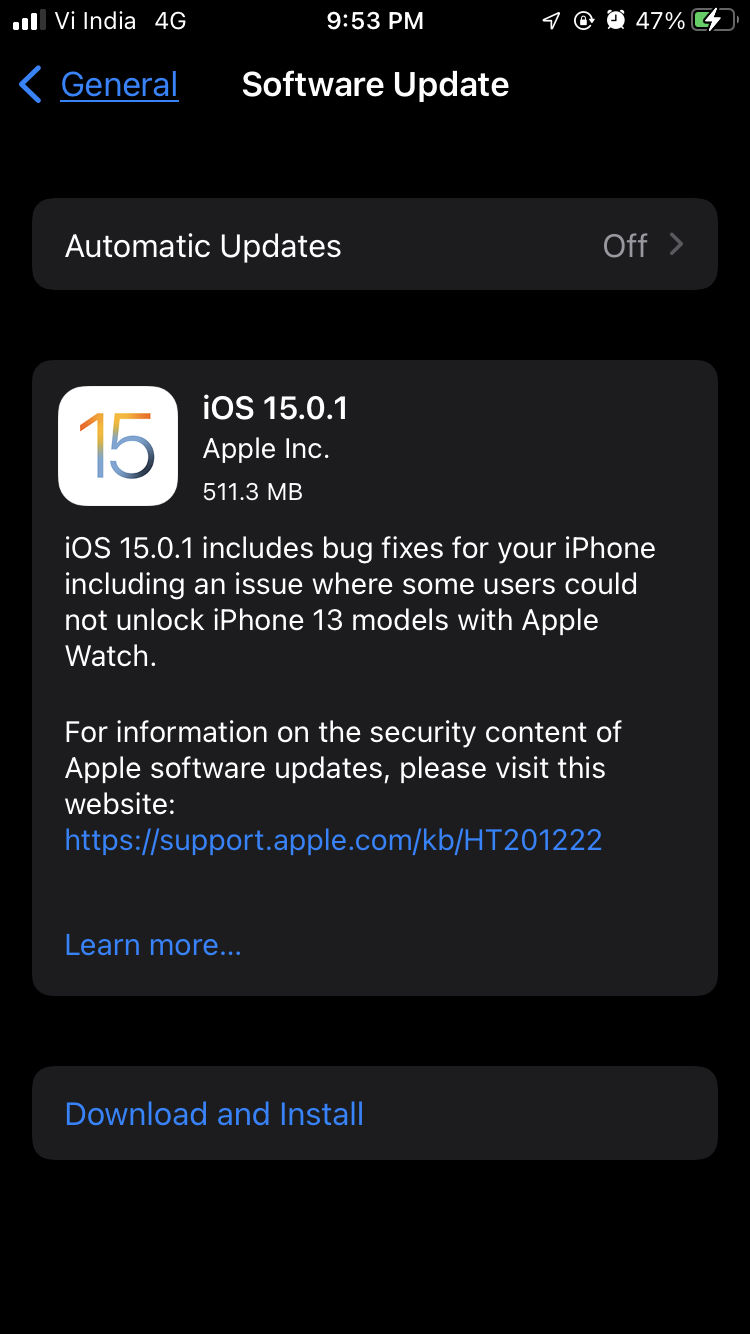ios 15.0.1 fixes apple watch unlock bug for all iphone 13 users