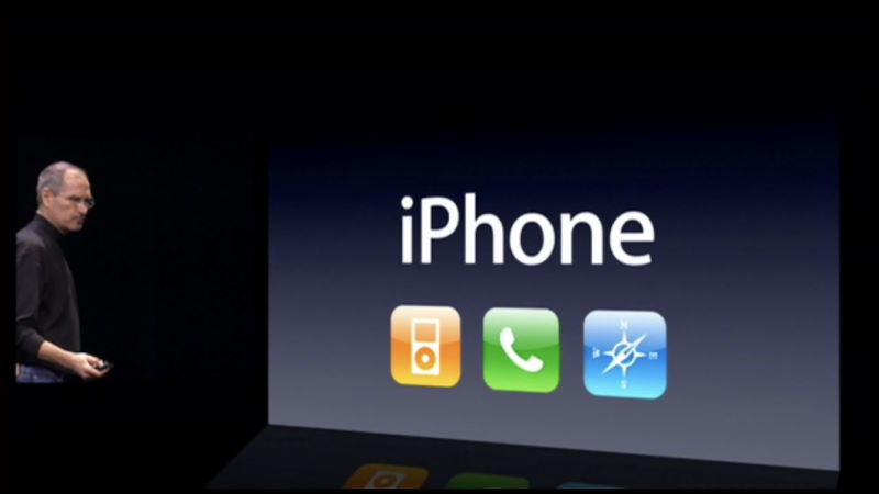 iphone combined the ipod, phone and internet communicator all in one single device called iPhone